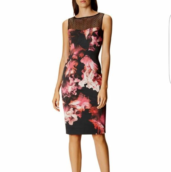 cbc7d0debd Karen Millen Dresses | Midnight Orchid Floral Dress Size 4 | Poshmark